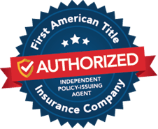 Our Underwriter - First American Title Insurance Company Authorized badge